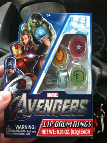 Avengers Lip Balm Rings! pic by Mandy