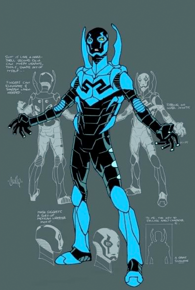 Technical costume specs of the Blue Beetle