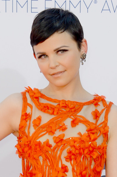 Actress Ginnifer Goodwin in Monique Lhuillier, close up