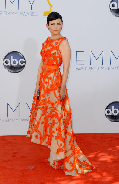 Actress Ginnifer Goodwin in Monique Lhuillier