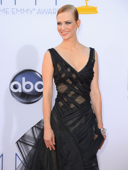 Actress January Jones in Zac Posen