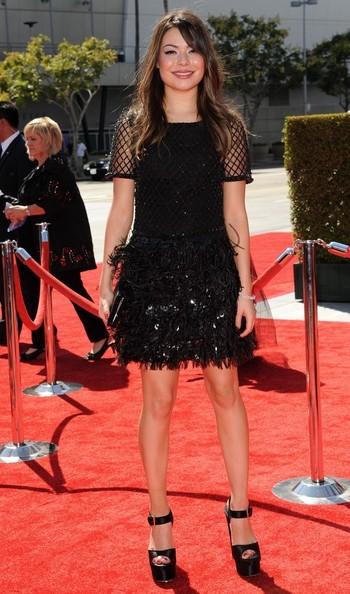 Nickelodeon star Miranda Cosgrove at the Creative Arts Emmys