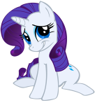 an image of Rarity looking embarrassed