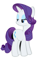 an image of Rarity side-eyeing