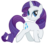 an image of Rarity posing