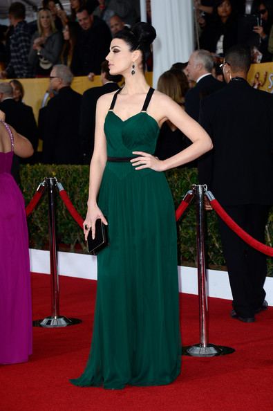 a photo of January Jones on the 2013 SAG Awards Red Carpet