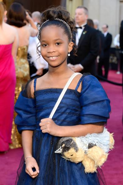 Quvenzhané Wallis looking like a princess