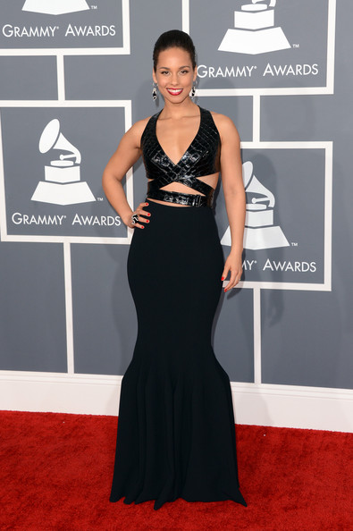 a photo of Alcia Keys at the Grammys 2013