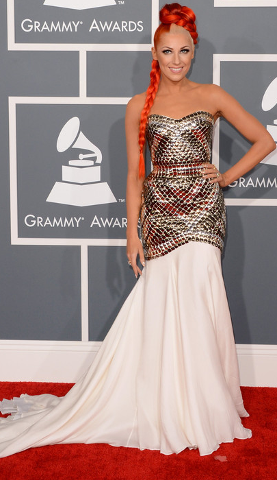 an image of Bonnie McKee at the Grammys 2013