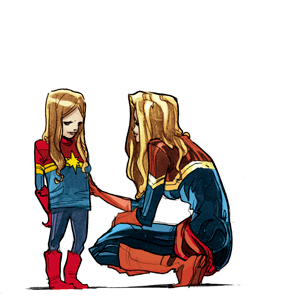 a scan of Captain Marvel 10
