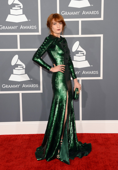 a photo of Florence Welch at the Grammys 2013
