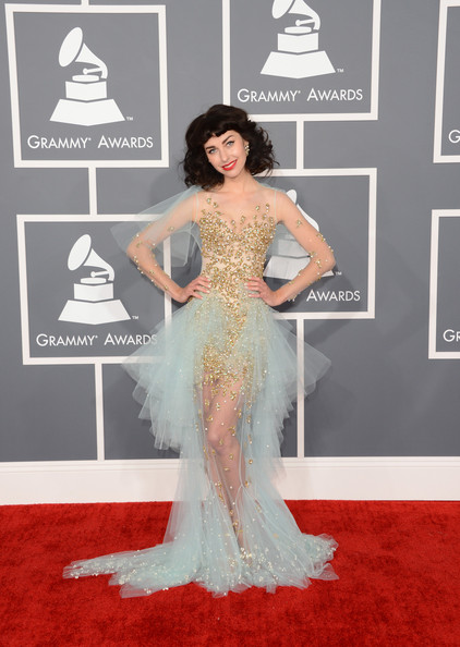 a photo of Kimbra at the Grammys 2013