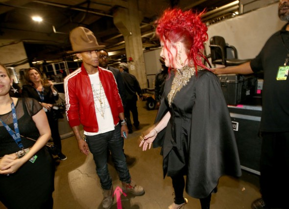 Cyndi Lauper and Pharrell Williams