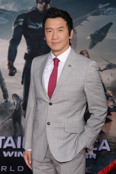 Chin Han at the Captain America 2 red carpet premiere