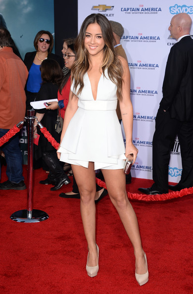 Chloe Bennet at the Captain America 2 red carpet premiere