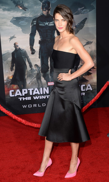 Cobie Smulders at the Captain America 2 red carpet premiere