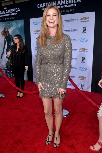 Emily Van Camp at the Captain America 2 red carpet premiere