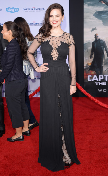Hayley Atwell at the Captain America 2 red carpet premiere