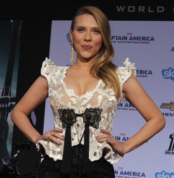 Scarlett Johansson at the Captain America 2 red carpet premiere